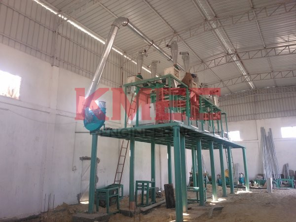 flour mill plant steel structure installation is complete