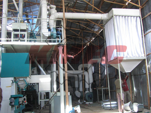 lentil processing plant install