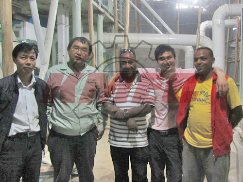 staff and lentil processing plant client