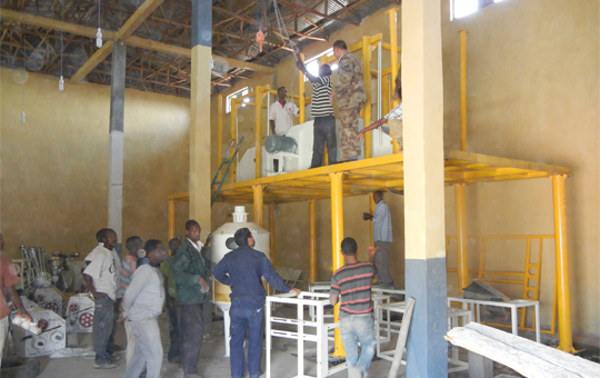 wheat flour mill project main steel structure